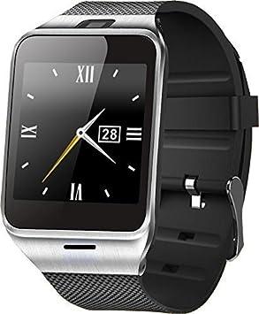 GV18/APLUS - Smartwatch (pantalla de 1, pulgadas, altavoz, acero inoxidable y plástico, compatible con smartphones Android, ...