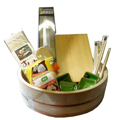 12 PCS Sushi Making Set Kit-Wooden Oke by JSKY