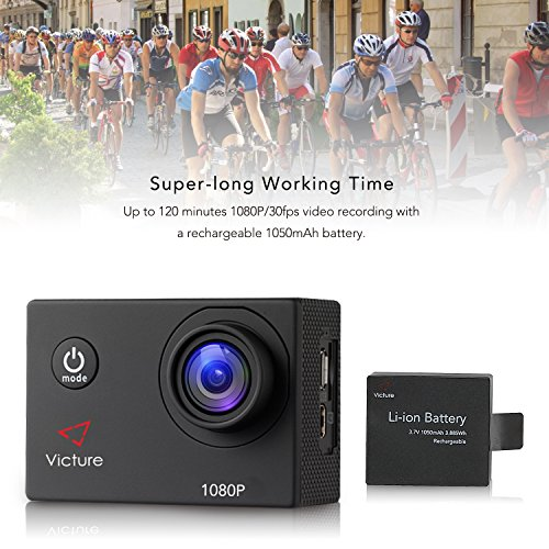 Victure Action Camera 4K WiFi Underwater Diving Camera 20MP