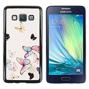 TopCaseStore / la caja del caucho duro de la cubierta de protección de la piel - Spring Flying Nature - Samsung Galaxy A3 SM-A300