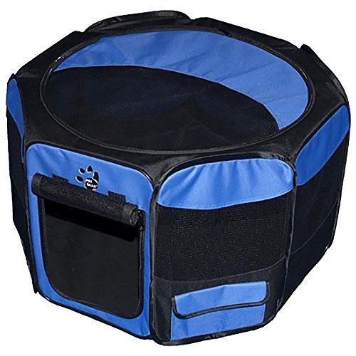 Travel Lite Soft-Sided Pet Pen – Small/Ocean Blue