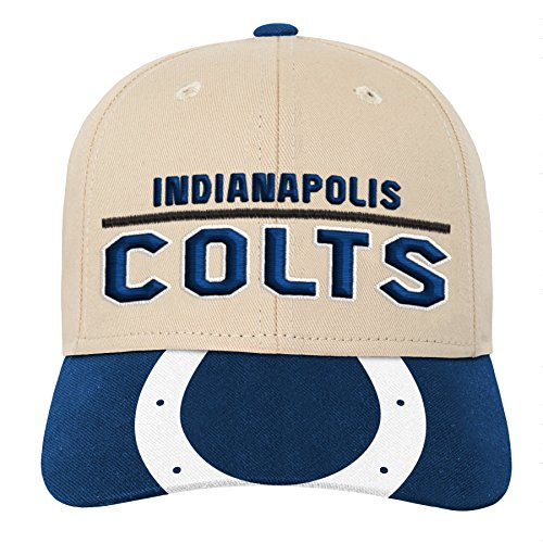 Outerstuff NFL NFL Indianapolis Colts Youth Boys Retro Style Logo Structured Hat Speed Blue, Youth One Size