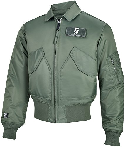 Valley Apparel Made in USA Men's US Air Force CWU 45/P Flight Jacket, Sage Green, XL