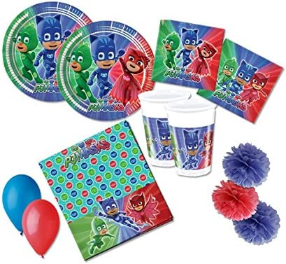 Decoraciones DE CUMPLEAÑOS PJ Masks KIT49F: Amazon.es ...