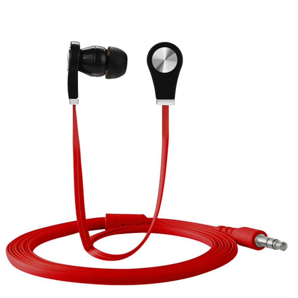 3.5mm Stheanoo In-Ear Earbuds Stereo Noise Cancelling Earphone for Mp3 Cell Phone Computer (Red)