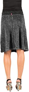 product image for Hard Tail Roll Down A-line Skirt (Style B-126) (Medium, Charcoal Mineral wash)