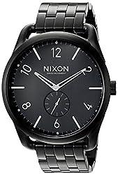 Nixon Men's A951001 C45 SS Analog Display Swiss Quartz Black Watch
