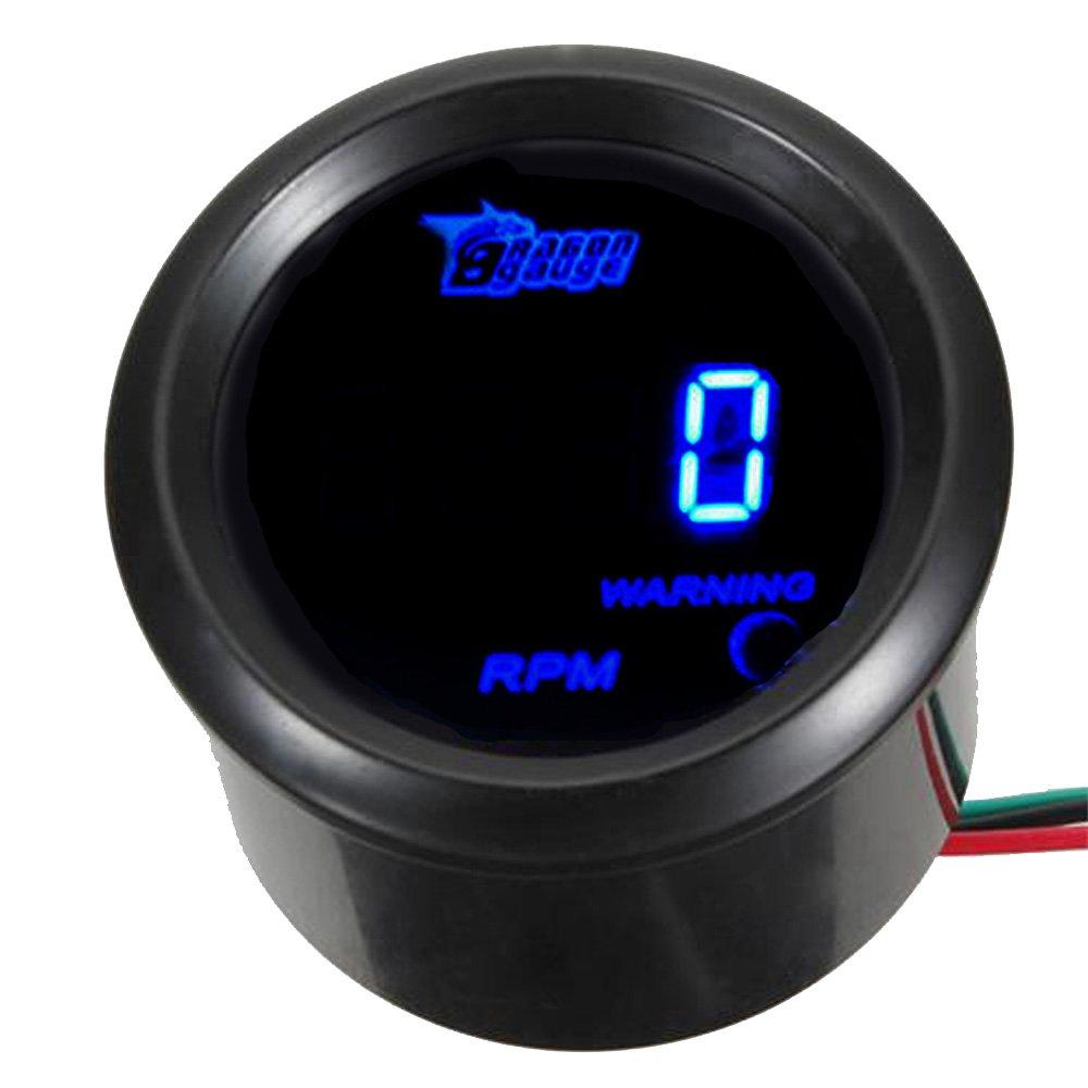 E Support™ 2' 52mm Auto KFZ Instrument Voltmeter Blau LED Anzeige Digital Batteriespannung