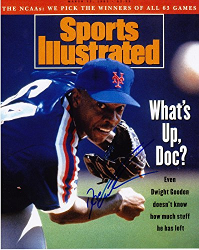 Dwight Gooden Signed Photo - SPORTS ILLUSTRATED 8x10 - Autographed MLB Photos