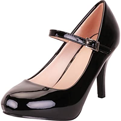 Cambridge Select Women's Hidden Platform High Heel Stiletto Mary Jane Pump | Pumps