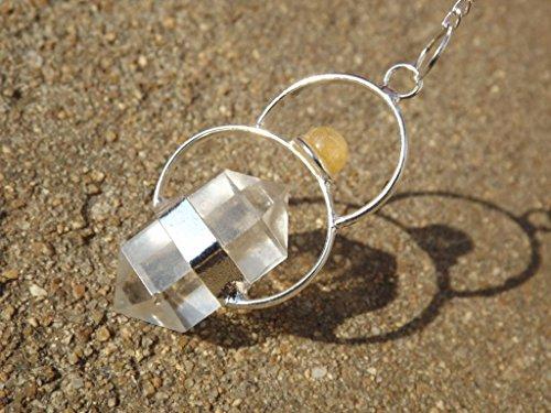 enturine~double terminated crystal gemstone dowsing pendulum (Aventurine Cabochon Gems)