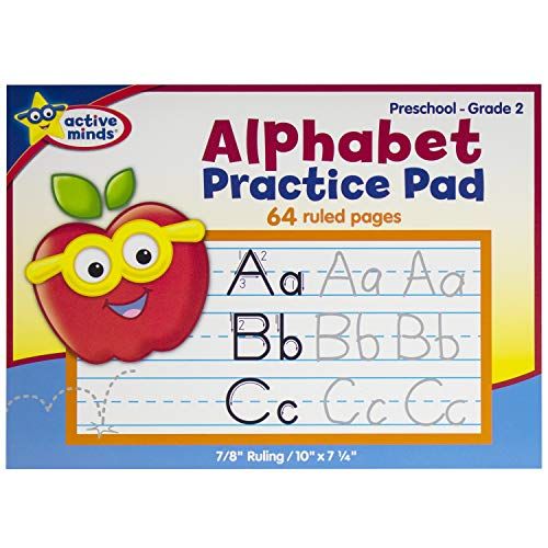 Active Minds - Alphabet Practice Pad - Preschool to Grade 2