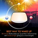 VEHOLION Light Therapy Lamps, Sleep Therapy Wake Up Light Alarm Clock with Sunrise Simulation and 4 Natural Sounds, Snooze Function and Timer White Noise Sound LED Rechargeable, MY-6