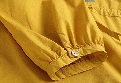SANKU レディース ドレス クルーネック エスニック 刺繍 膝丈 長袖 秋 リネン ワンピース おしゃれ 可愛い 綿 麻 学生 森ガール カジュアル チュニック ゆったり