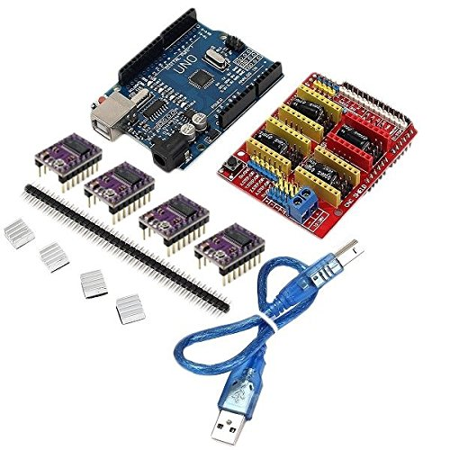 0181 CNC Shield + UNO R3 Board + 4 X DRV8825 Driver Kit For Arduino 3D Printer from Aigh Auality shop