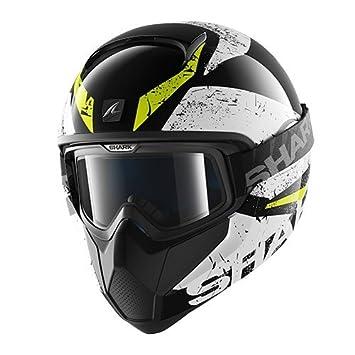 Shark casco Moto VANCORE Braco kwy, Negro/Amarillo, talla M