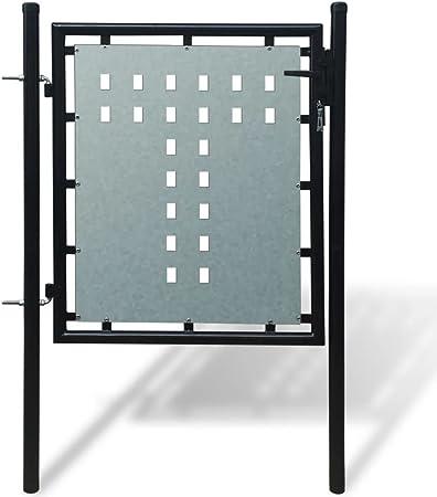 taofuzhuang Verja Negra con una Puerta de Entrada, 100 x 125 cmBricolaje Vallas de jardín Puertas de jardín: Amazon.es: Hogar