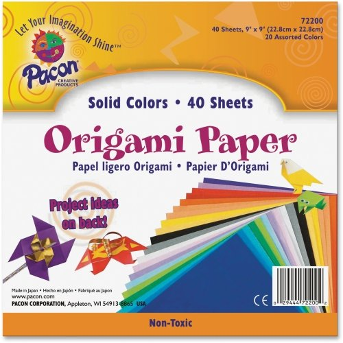 Pacon Origami Paper - 9quot; x 9quot; - Assorted