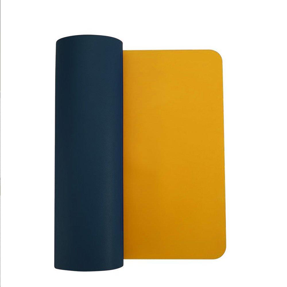 desk Pad para rat/ón de piel sint/ética resistente al agua suave/ rectangular /alfombrilla de escritorio absorbedor pantalla para oficina y hogar color gris S