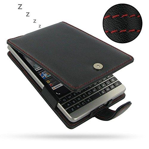 big sale 2a6a1 c05ff PDair BlackBerry Passport Silver Edition Flip Cover Case (Red Stitch ...