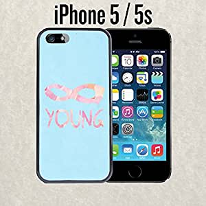 iPhone Case Cute Infinity Young Watercolor for iPhone 5 / 5s Plastic Black (Ships from CA)