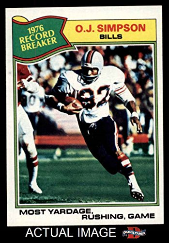 1977 Topps # 453 Record Breaker O.J.Simpson Buffalo Bills...