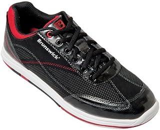 Chaussures de bowling larges pour homme en titane noir/salsa brunswick Noir Noir/Rouge 40.5 BRM016 080