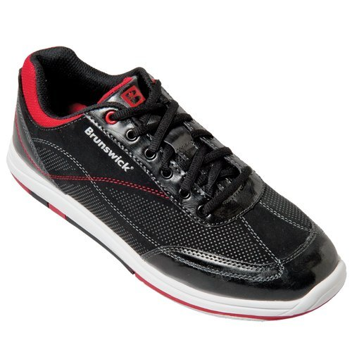 Brunswick Mens Titan Bowling Shoes BlackSalsa 10.5