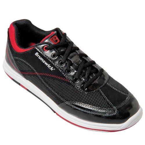 Brunswick Titan - Zapatillas de bolera para hombre, color negro y rojo