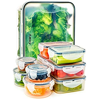 Amazoncom Food Storage Containers with Lids Airtight Leak Proof