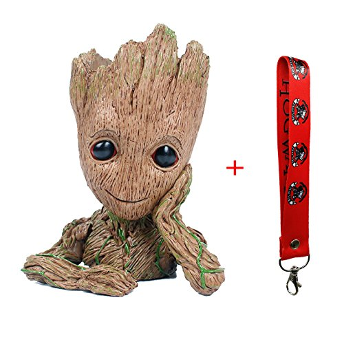 GuangTouL Groot Action Figures Guardians of The Galaxy Flowerpot Baby Cute Model Toy Pen Pot Best Gifts