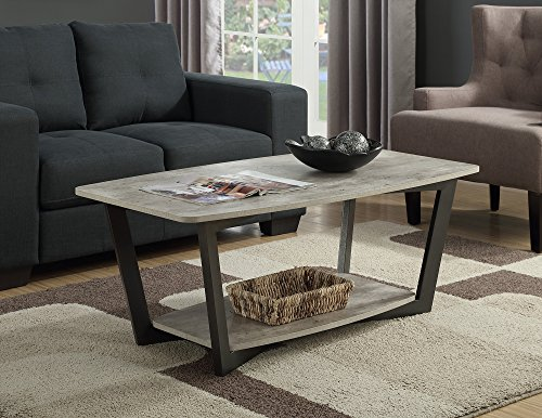 Convenience Concepts Graystone Coffee Table, Faux Birch For Sale