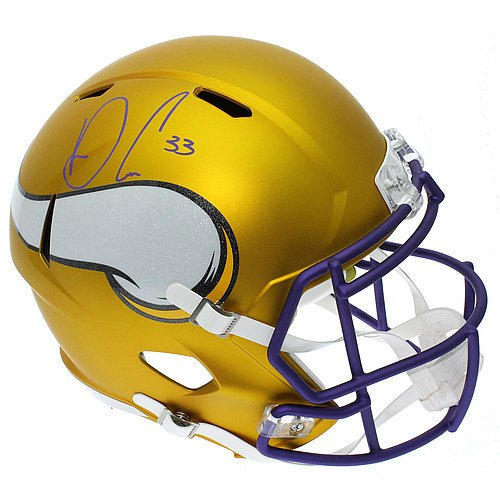 Dalvin Cook Autographed Minnesota Vikings Full Size Blaze Alternate Speed Replica Helmet - JSA Authentication (Minnesota Vikings Replica Autographed Helmet)