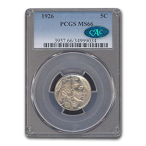 1926 Buffalo Nickel MS-66 PCGS CAC Nickel MS-66 (Grading Buffalo Nickels)