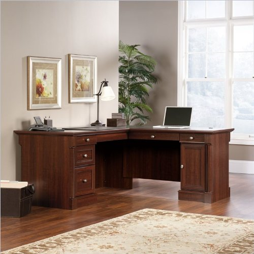 Sauder 413670 Palladia L-Shaped Desk, L: 68.74