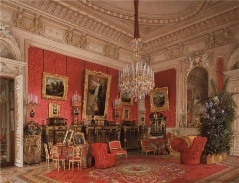 The High Quality Polyster Canvas Of Oil Painting 'Premazzi Luigi,Interiors Of The Winter Palace,The Study Of Empress Maria Alexandrovna,1869' ,size: 8x10 Inch / 20x26 Cm ,this High Quality Art Decorative Prints On Canvas Is Fit For Dining Room Decor And Home Decor And Gifts