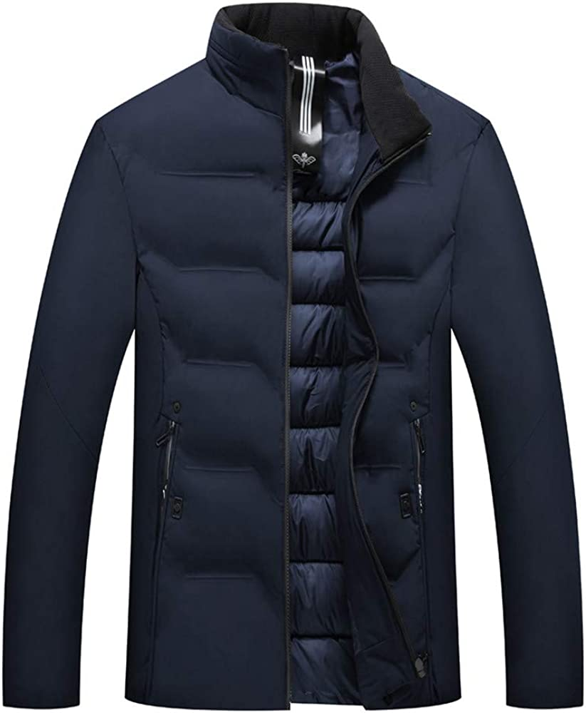 Chaqueta de Hombre para el Aire Libre, Moda Masculina otoño Invierno Casual Bolsillo botón térmico de Cuero Chaqueta Top Coat