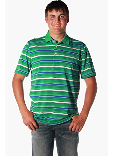 Chaps S/S Knit Golf Polo in Persian Green (XXL) (Chaps Golf Shirt)