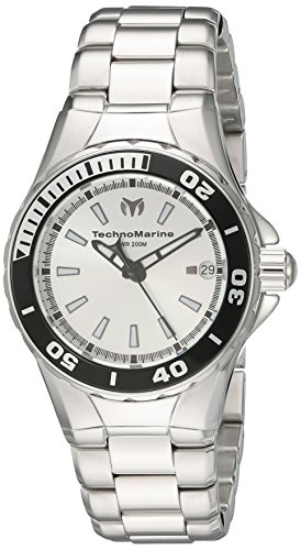 Technomarine Women's 'Sea Manta' Swiss Quartz Stainless Steel Watch, Color:Silver-Toned (Model: TM-215060)