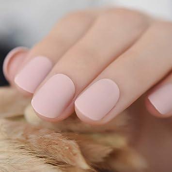 EchiQ Lot de 24 faux ongles courts givrés pour extensions d