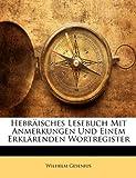 Hebräisches Lesebuch Mit Anmerkungen Und Einem Erklärenden Wortregister (German Edition), Wilhelm Gesenius, 114805104X