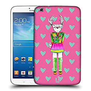 Head Case Designs Pink Demi the Fashion Doe Protective Snap-on Hard Back Case Cover for Samsung Galaxy Tab 3 8.0 T311 T315 T310