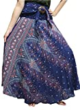SALWARWAY Bohemian Skirt Flower and Elephant Style For Women Plus Size 14-18 US (Blue6)