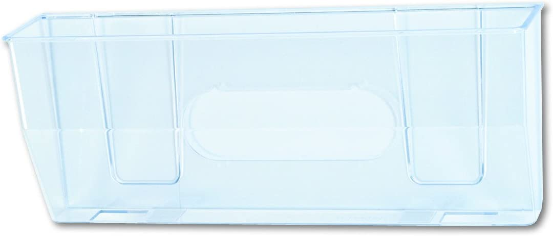 Deflecto 50101 Docupocket oversized magnetic wall file pocket, 15w x 3d x 6-3/8h, clear