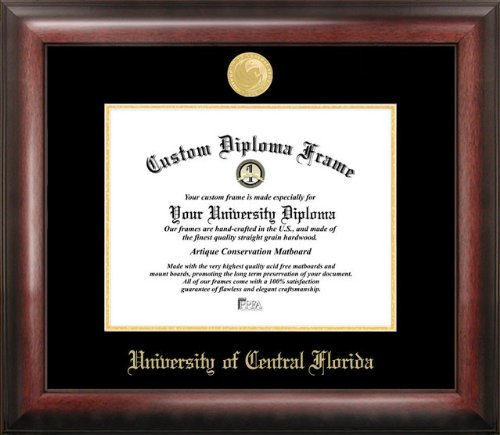 Campus Images University of Central Florida 11w x 8.5h Gold Embossed Diploma Frame from Campus Images