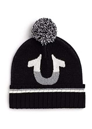 f8ecbb2549 Amazon.com  True Religion Mens Half Filled Horse Shoe Beanie  Clothing