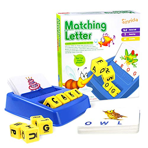Matching Letter Game,Letter Spelling - Reading Game for Preschool & Kindergarten Three & Four Letter Picture Word Matching Game for Word Recognition - Spelling, Educational Learning Games for Kids