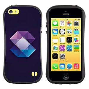 Suave TPU GEL Carcasa Funda Silicona Blando Estuche Caso de protección (para) Apple Iphone 5C / CECELL Phone case / / Crystal Gemstone Polygon Black /