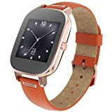 """ASUS ZenWatch 2 Smartwatch 1.45"""" Stainless Steel - Rose Gold/Orange Leather Band (Certified Refurbished)"""