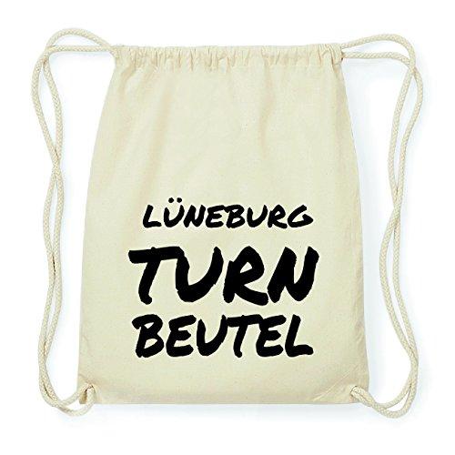 JOllify LÜNEBURG Hipster Turnbeutel Tasche Rucksack aus Baumwolle - Farbe: natur Design: Turnbeutel